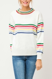 Pretty Little Things Retro Rainbow Sweater - Product Mini Image