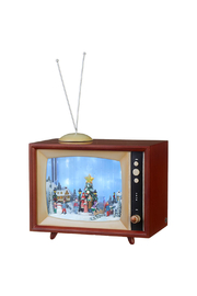 RAZ Imports Retro Town Animated Musical TV - Front cropped