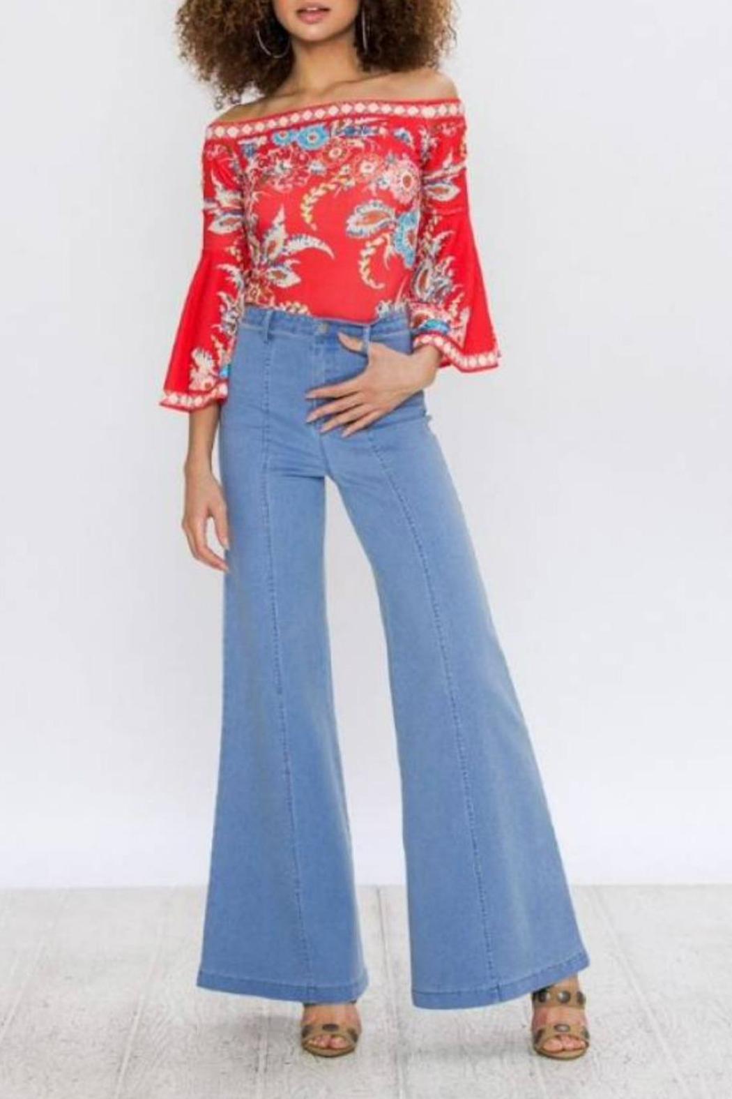 Flying Tomato Retro Wide-Leg Jean - Back Cropped Image
