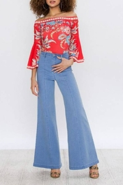 Flying Tomato Retro Wide-Leg Jean - Back cropped
