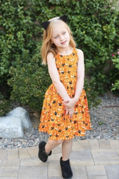 Shoptiques Product: Cats & Pumpkins Glow In The Dark Dress