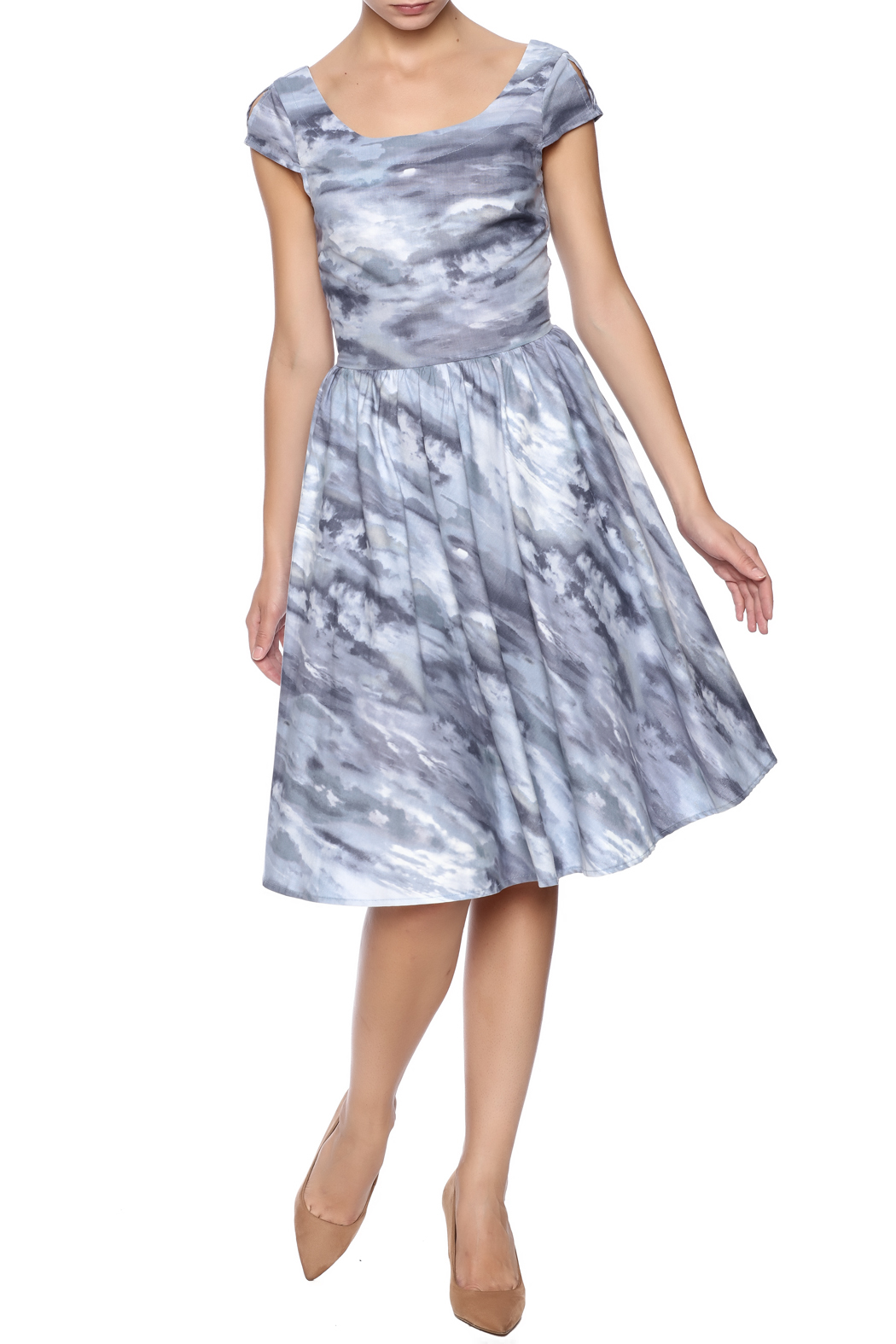 Retrolicious Cloudy Day Dress - Main Image