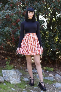 Retrolicious Foxes Skater Skirt - Product List Image
