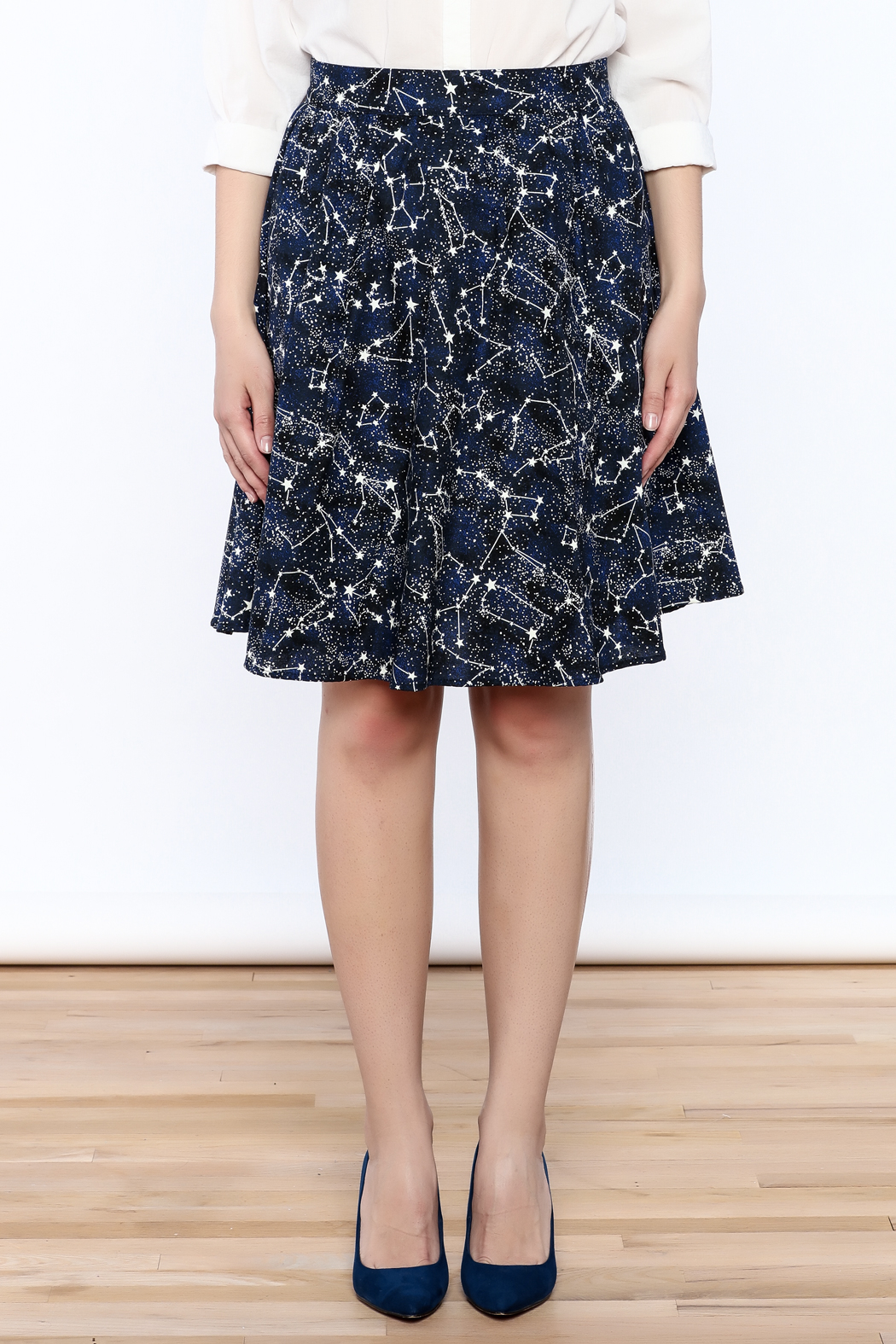 Retrolicious Glow Constellation Skirt - Side Cropped Image