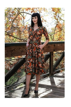 Retrolicious Heather Floral Dress - Product List Image