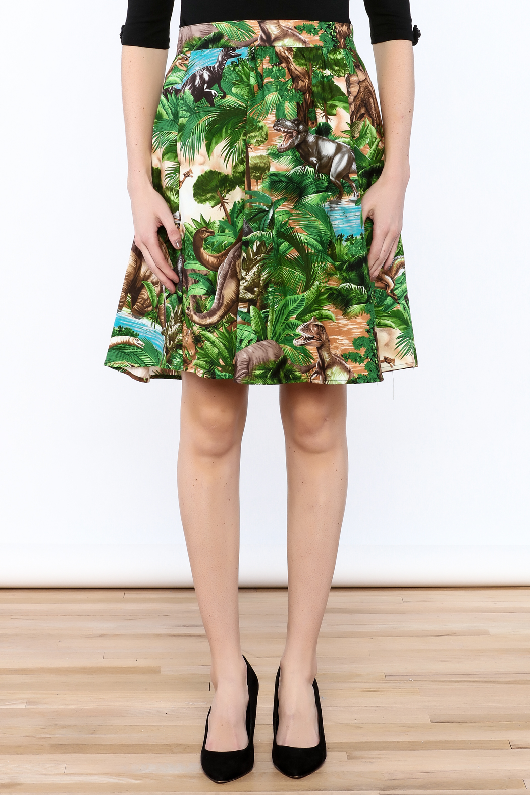 Retrolicious Jurassic Park Skirt - Side Cropped Image