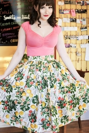 Retrolicious Lemons Madison Skirt - Product Mini Image