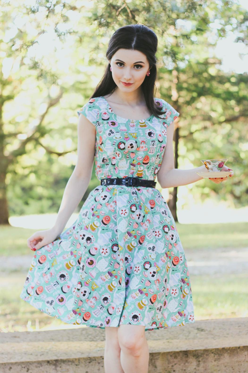 0522410b349 Retrolicious Tea-Party Dress from New York by Pollyanna and Dot ...