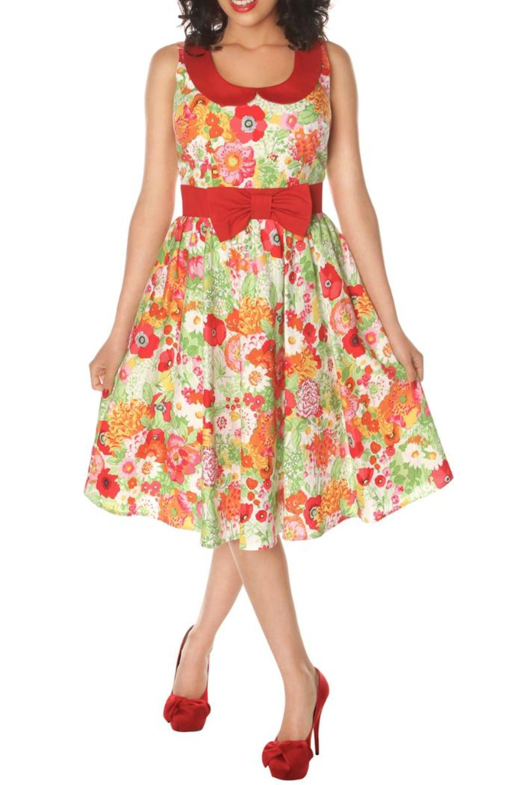 Retrolicious Retro Floral Dress - Front Cropped Image