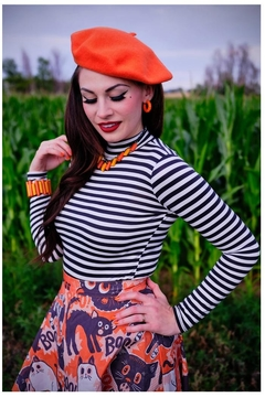 Retrolicious Striped Mock-Neck Top - Product List Image