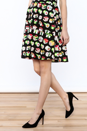 Retrolicious Sushi Print Skirt - Product Mini Image