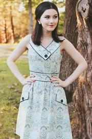 Retrolicious Vintage Style Octopus Dress - Front full body