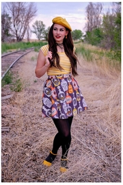 Retrolicious Witches Brew Skater-Skirt - Product Mini Image