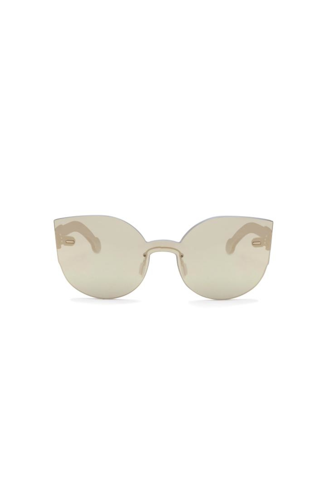 RetroSuperFuture Retrosuperfuture Ivory Sunnies - Front Cropped Image