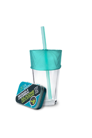 GoSili Reusable Universal Silicone Lid and Straw in Tin - Product Mini Image