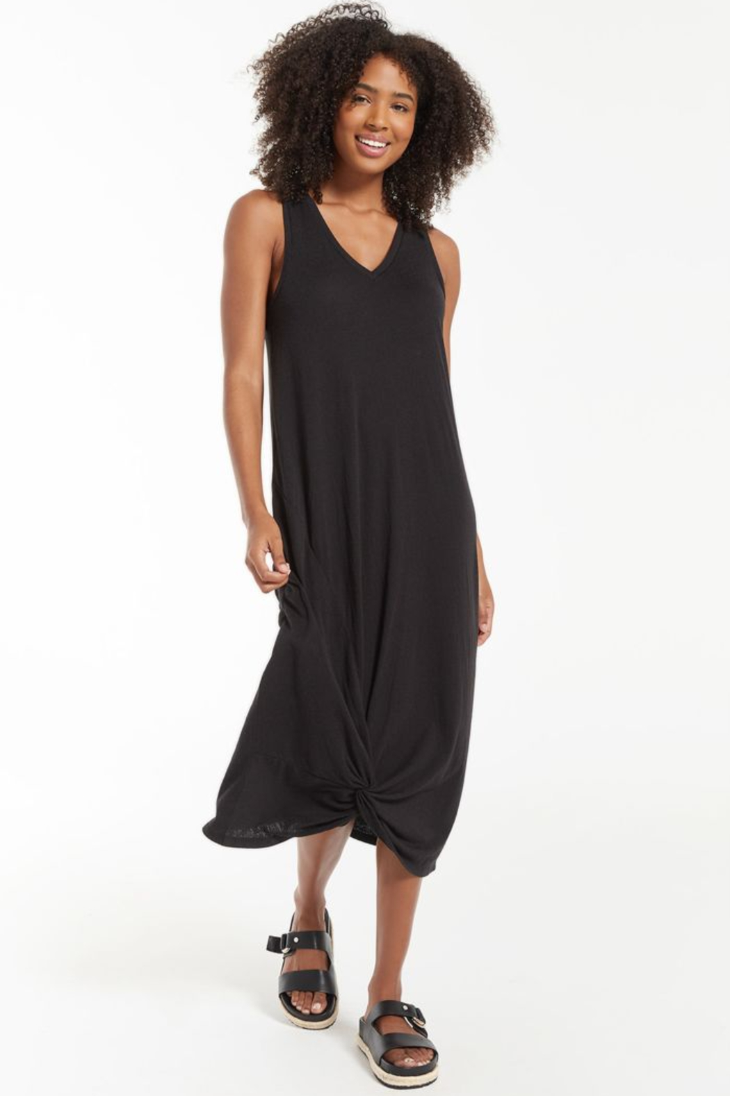 z supply Reverie Knot Dress - Front Cropped Image