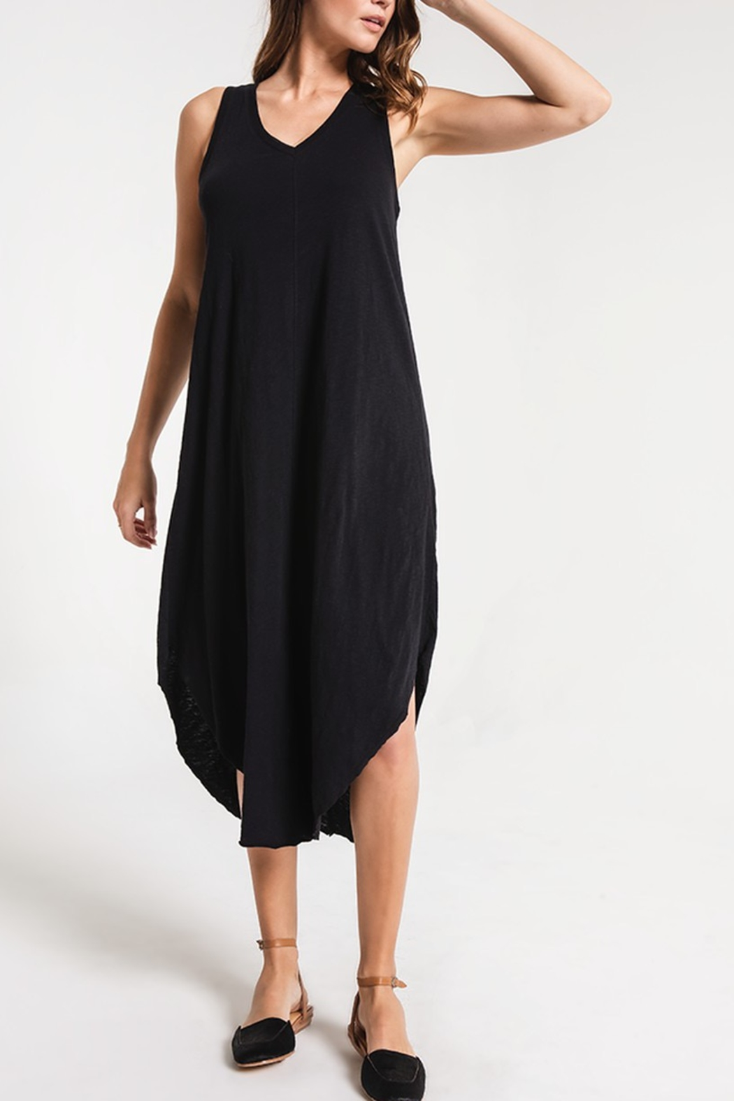 z supply Reverie Midi Dress - Front Cropped Image