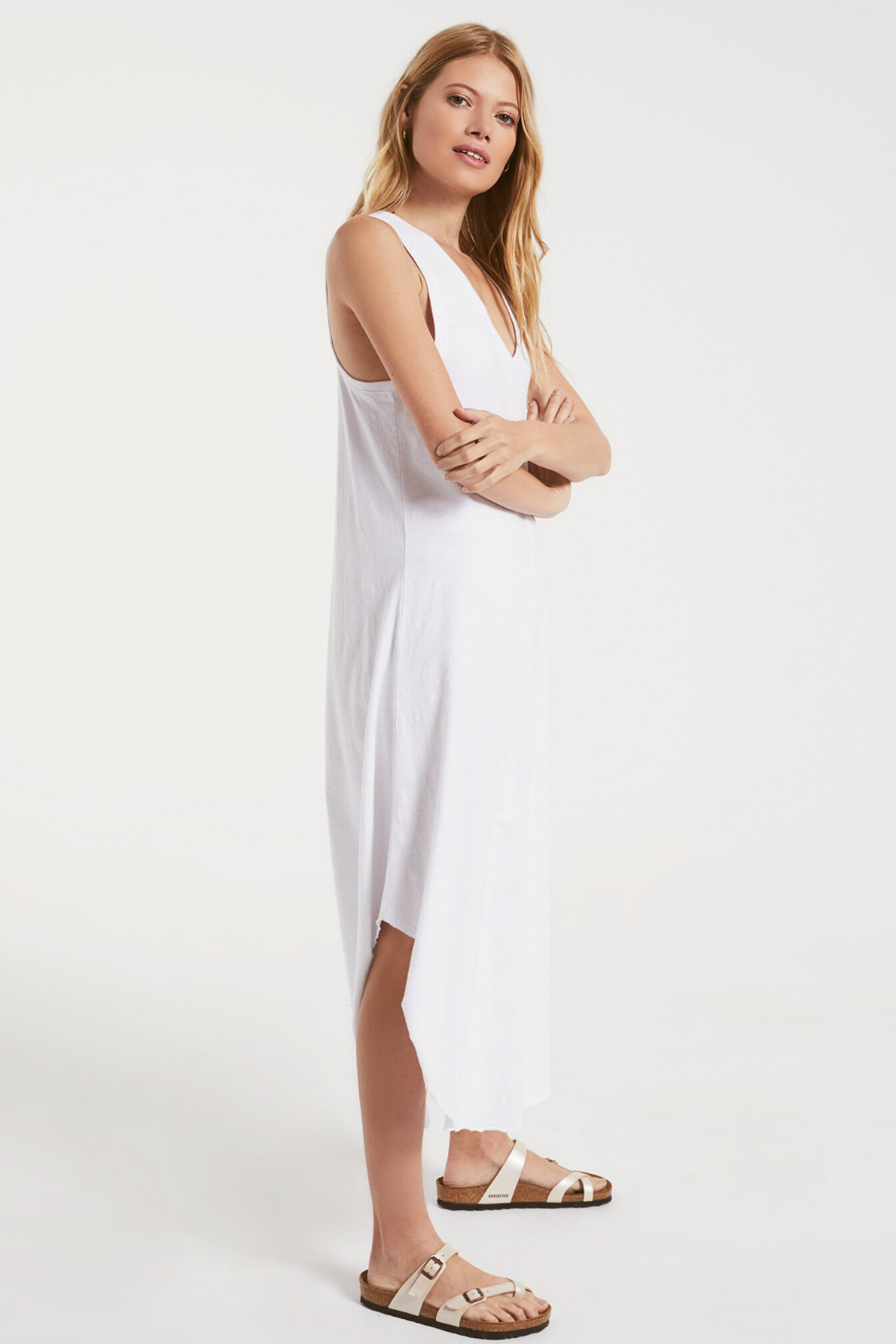 z supply Reverie Midi Dress - Front Full Image