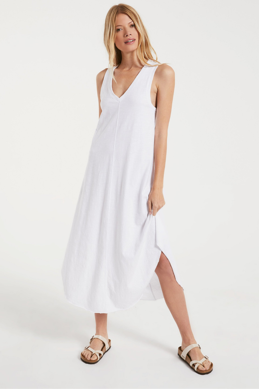 z supply Reverie Midi Dress - Back Cropped Image