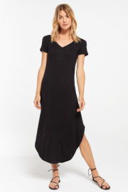 z supply Reverie Rib Short Sleeve Dress - Front cropped