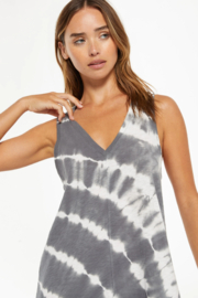 z supply Reverie Spiral Tie-Dye Dress - Front full body