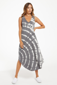 z supply Reverie Spiral Tie Dye Midi Dress - Product List Image