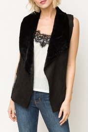Mystree Reverse Collar Fur Vest - Product Mini Image