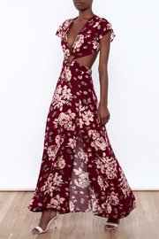 reverse  Floral Cut Out Dress - Product Mini Image