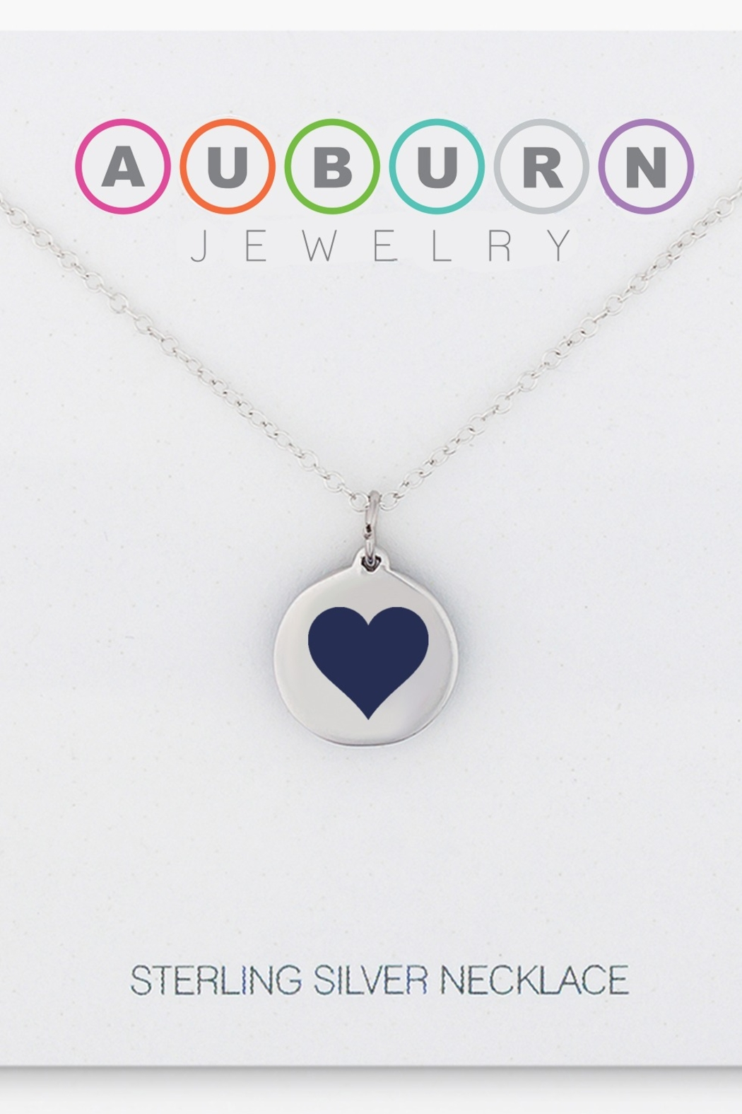 Auburn Jewelry Reverse Heart Silver - Mini - Front Cropped Image