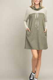 Mittoshop Reverse-Paneled Turtle Neck Dress - Product Mini Image