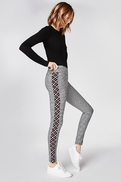 Nicole Miller Reverse Plaid Pant - Product List Image
