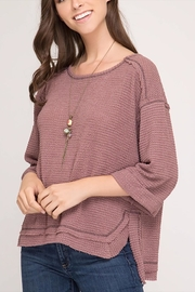 She + Sky Reverse Stitch Top - Product Mini Image
