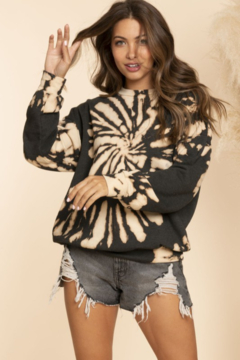 Blue Buttercup Reversed Tie Dyed Sweatshirt - Product List Image