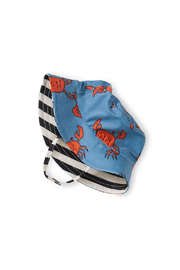 Tea Collection  Reversible Baby Sun Hat - Dancing Crabs - Product Mini Image