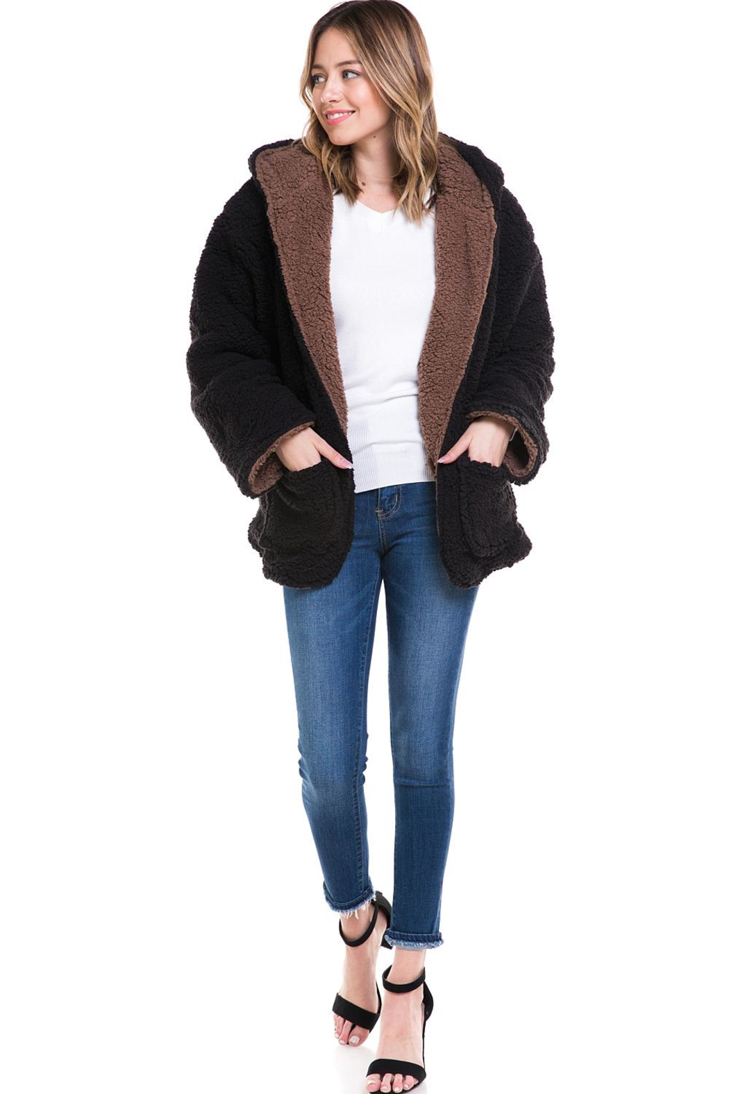 Love Tree Reversible Bear Coat - Front Cropped Image