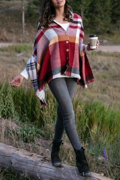 Grace & Lace Reversible Button Scarf/poncho - Product List Image