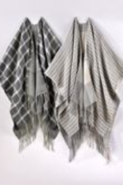 Charlie Paige Reversible Check Poncho - Product Mini Image