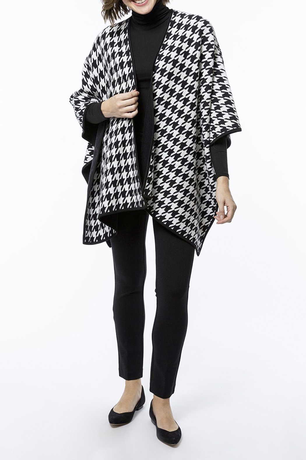 Tyler Boe Reversible Cotton/Cashmere Cape - Side Cropped Image