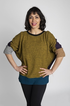 Margaret Winters Reversible Cotton Sweater - Product List Image