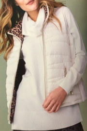 Tribal  Reversible Cream Puffer Vest - Product Mini Image