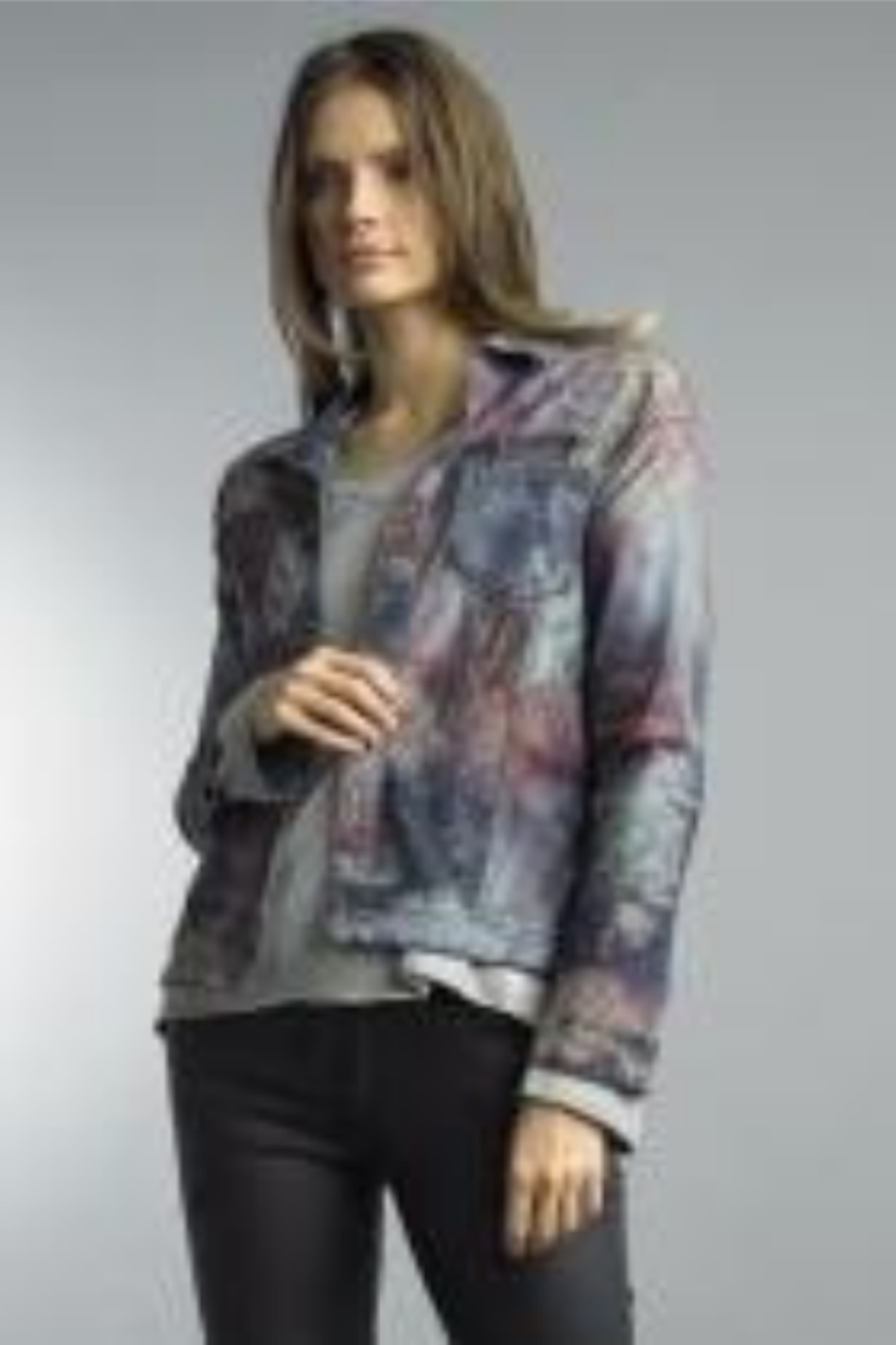 Tempo Reversible Denim and Floral Pattern Jacket - Main Image