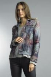 Tempo Reversible Denim and Floral Pattern Jacket - Product Mini Image