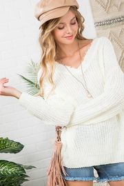 Top Style Reversible Distressed Sweater - Product Mini Image