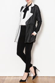 Three Dots Reversible Drawstring Knit Jacket - Side cropped