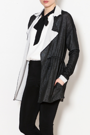 Three Dots Reversible Drawstring Knit Jacket - Front cropped