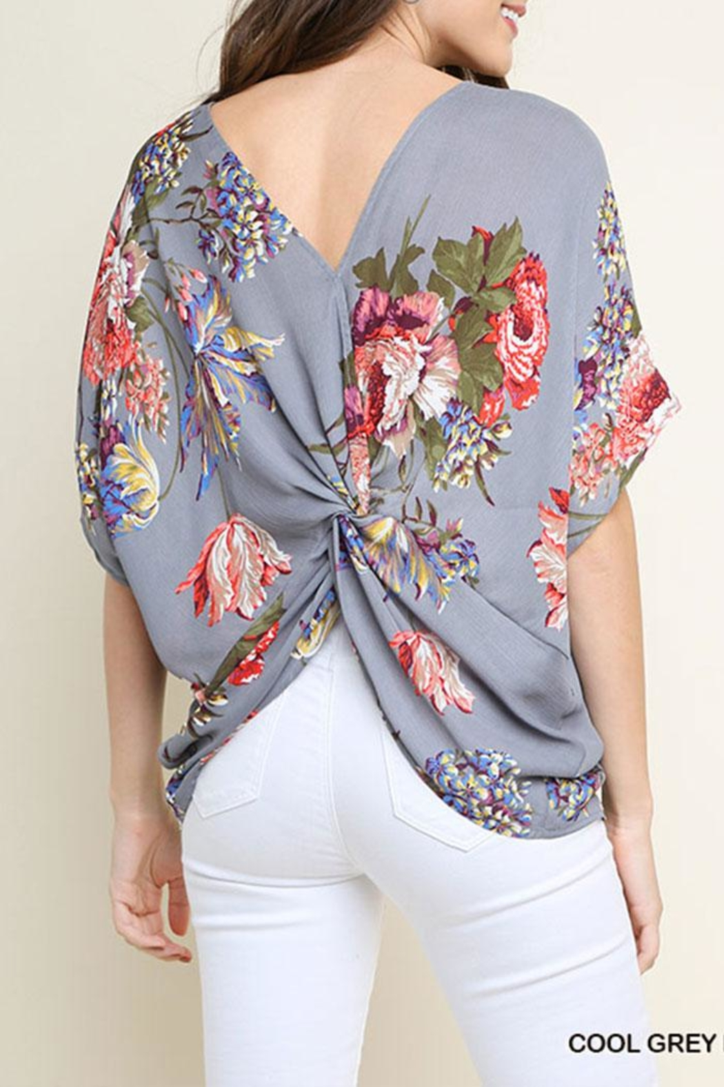 Umgee USA Reversible Fashion v-Neck - Front Full Image