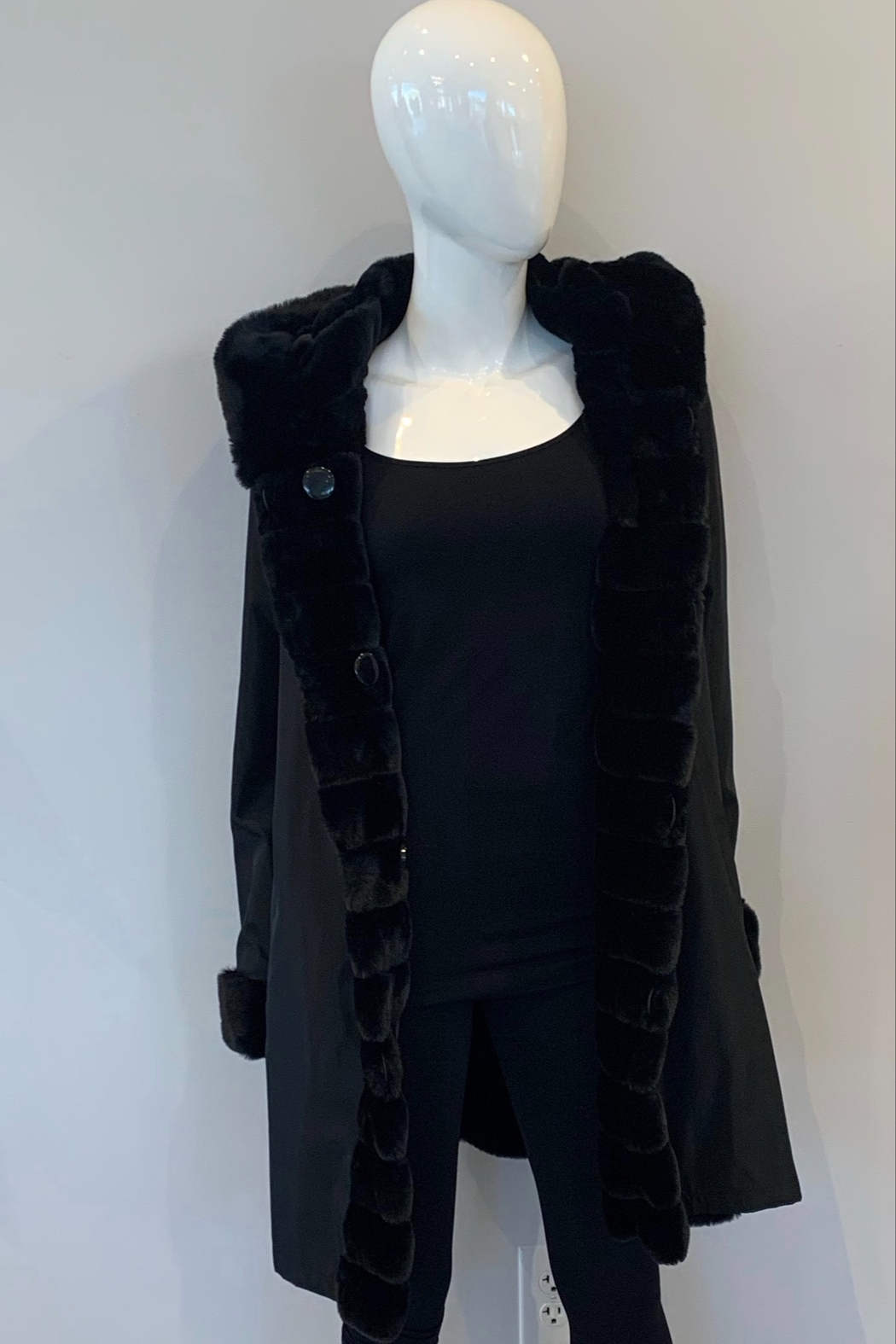 Nikki Jones Reversible Faux Fur Coat - Front Full Image