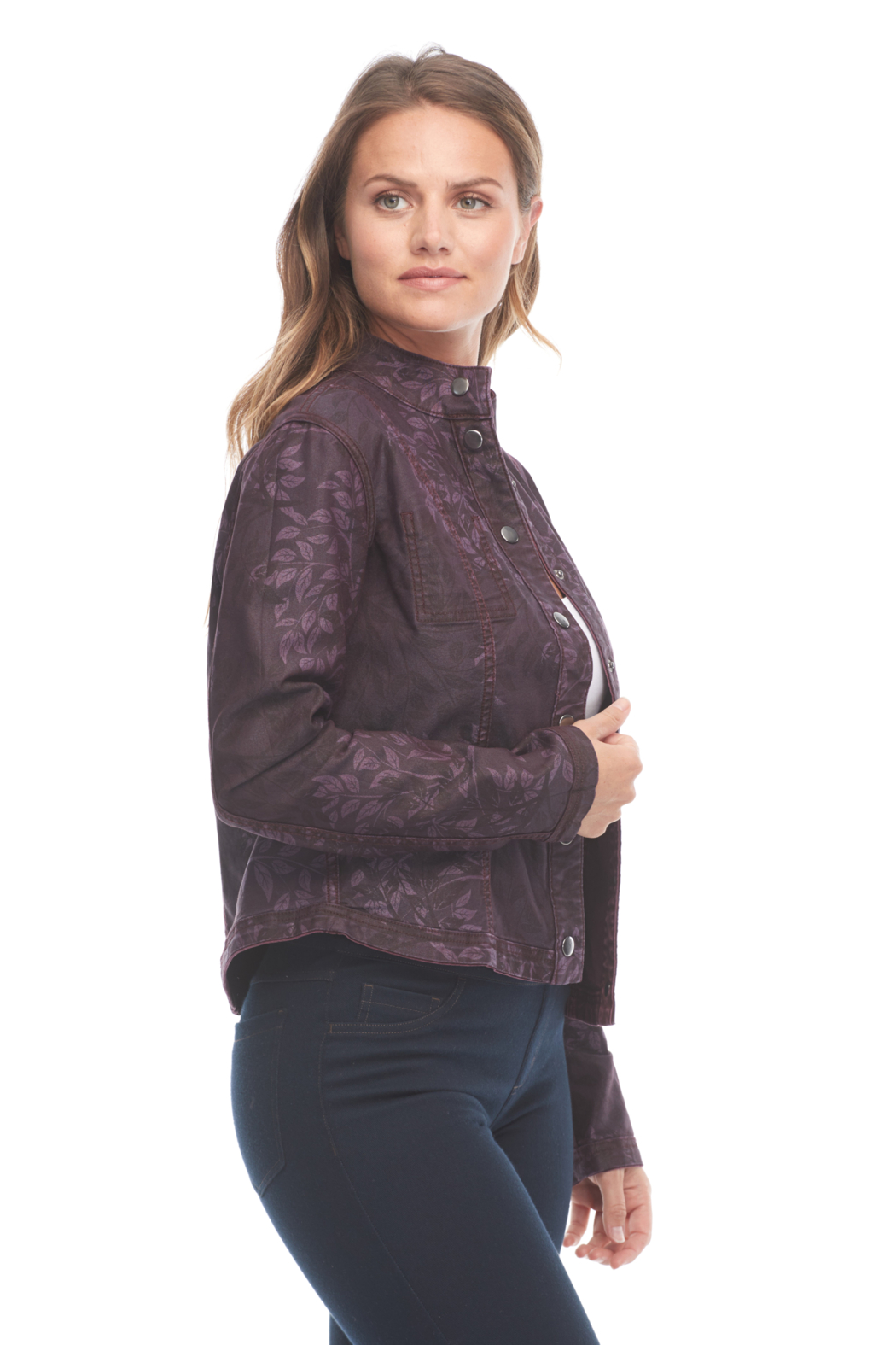 FDJ French Dressing Reversible Floral Jacket - Back Cropped Image