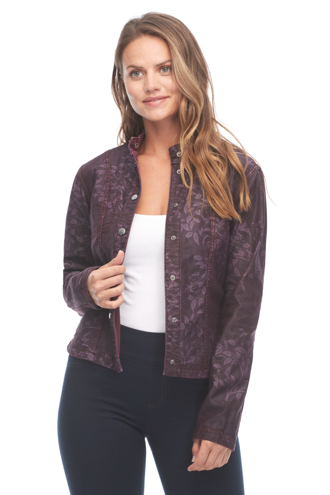 FDJ French Dressing Reversible Floral Jacket - Front Full Image