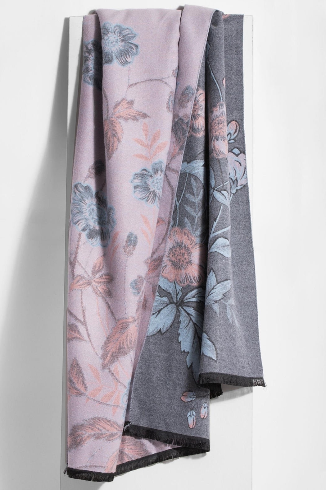 Saachi Reversible Floral Scarf - Front Full Image
